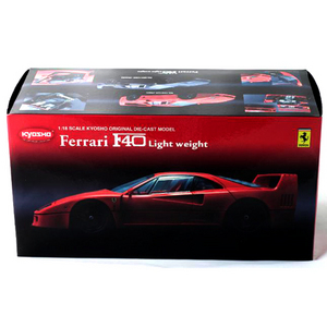 1/18 FERRARI KYOSHO F40 LIGHT WEIGHT RED
